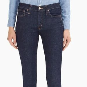 J Crew Blue Toothpick Ankle Jeans 27